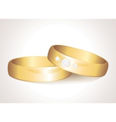 realistic rings vector image