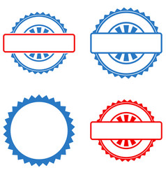 Seal stamp template flat icons vector