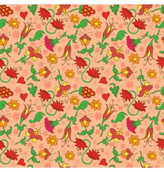 Seamless background with floral decorative vector