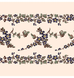 seamless border floral pattern vector image