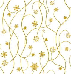 Seamless pattern wallpaper with snowflakes vector