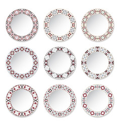 Set of decorative plates vector