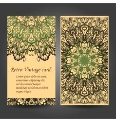 Set retro business card Card or invitation vector image