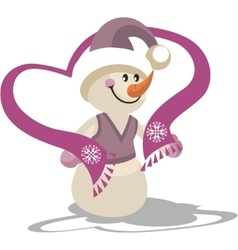 Snowman color 22 vector image