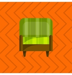 sofa in flat icons set vector image