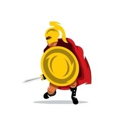 Spartan Warrior Cartoon vector image