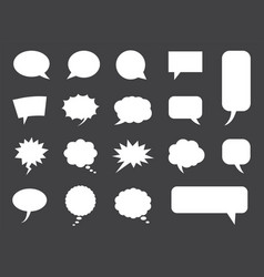 speech bubbles set in blank empty comic vector image
