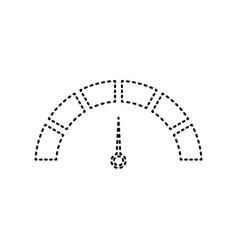 speedometer sign black vector image