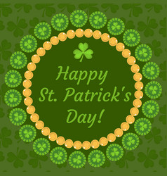 St patrick s day greeting card invitation vector