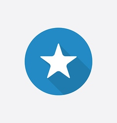 Star Flat Blue Simple Icon with long shadow vector