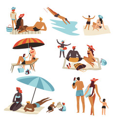 summer vacation and summertime holidays people by vector image