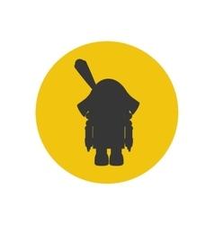 The nutcracker silhouette icon vector