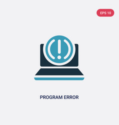 two color program error icon from programming vector image