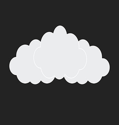 web white clouds vector image