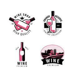 wine symbol or logo vineyard restaurant drink vector image