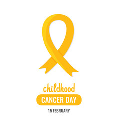 World childhood cancer day vector