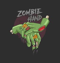zombie hand corpse nightmare rising vector image