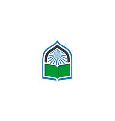 Book mosque icon logo vector