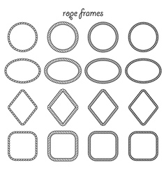 Collection of frames of rope vector image vector image