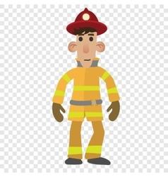 Firefighter cartoon character vector image