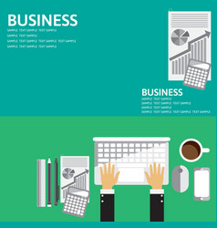 Flat backgrounds set for business vector