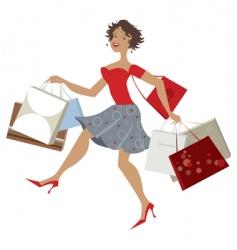 happy shopper vector image vector image