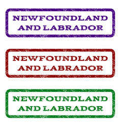 newfoundland and labrador watermark stamp vector image
