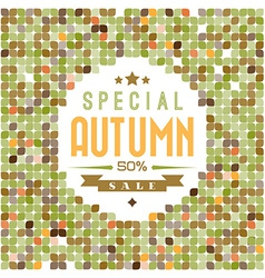 Retro colorfull leafs texture vector image vector image
