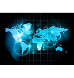 blue map world vector image
