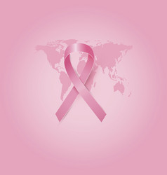 breast cancer awareness month design of pink vector image