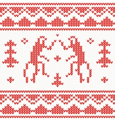 Christmas knitted background with monkey vector