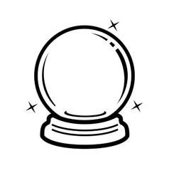 crystal ball icon vector image