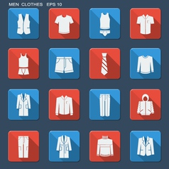 Fashion clothes for men vector image vector image