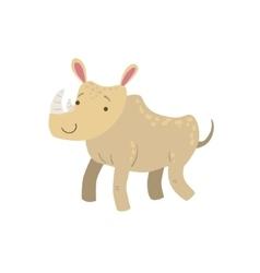 Rhino stylized childish drawing vector