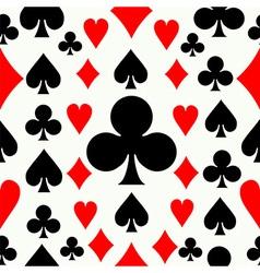 Seamless poker pattern background vector image