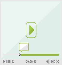 Video player2 resize vector image vector image