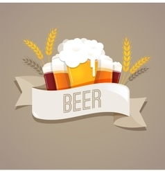 Beer festival event poster menu and background vector image vector image