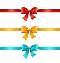 Bow and Ribbon Set vector image vector image