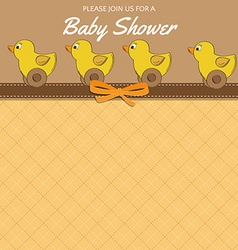 Delicate baby shower card with toys vector image vector image
