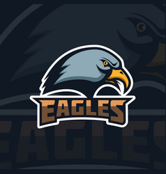 eagles emblem template with eagle head sport team vector image