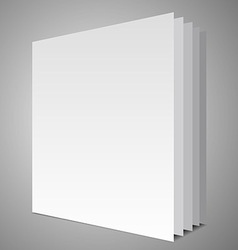 Empty book layout vector
