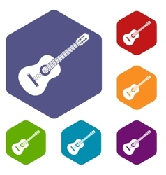 Guitar icons set vector image vector image