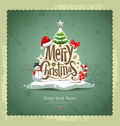 Merry christmas vintage design vector