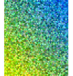 Abstract regular triangle mosaic background design vector image