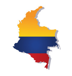 colombia flag amp map vector image vector image