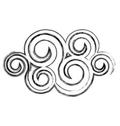 contour spiral cloud icon vector image