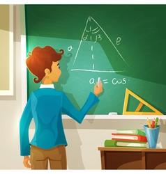 Geometry lesson cartoon vector
