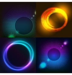 Huge set of glowing rounds with glitter Abstract vector image vector image