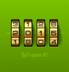 Let us open new 2015 year card vector image vector image
