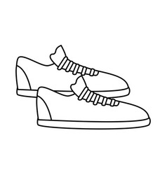 silhouette fitness sneakers design icon vector image